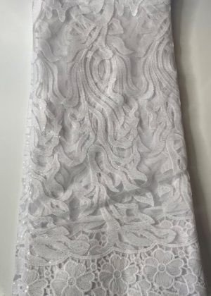 White French Lace Fabric front