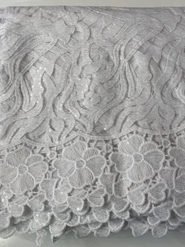 White French Lace Fabric close