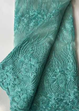 Mint French Lace Fabric