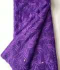 Purple French Lace Fabric