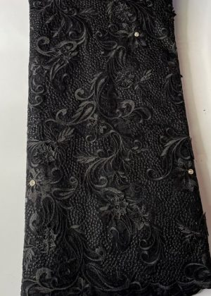 Black French Lace Fabric