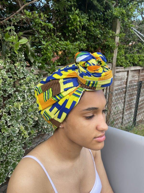Narki African Print Head Wrap Front Image