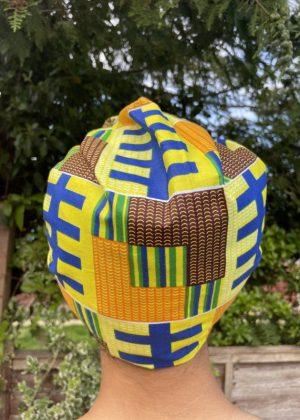 Narki African Print Head Wrap Back Image