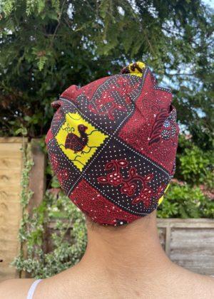 Teki African Print Head Wrap Back Image