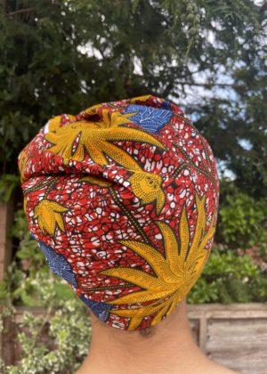 Suna African Print Head Wrap - Back Image