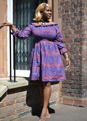 Kiarah Elasticated Midi Dress