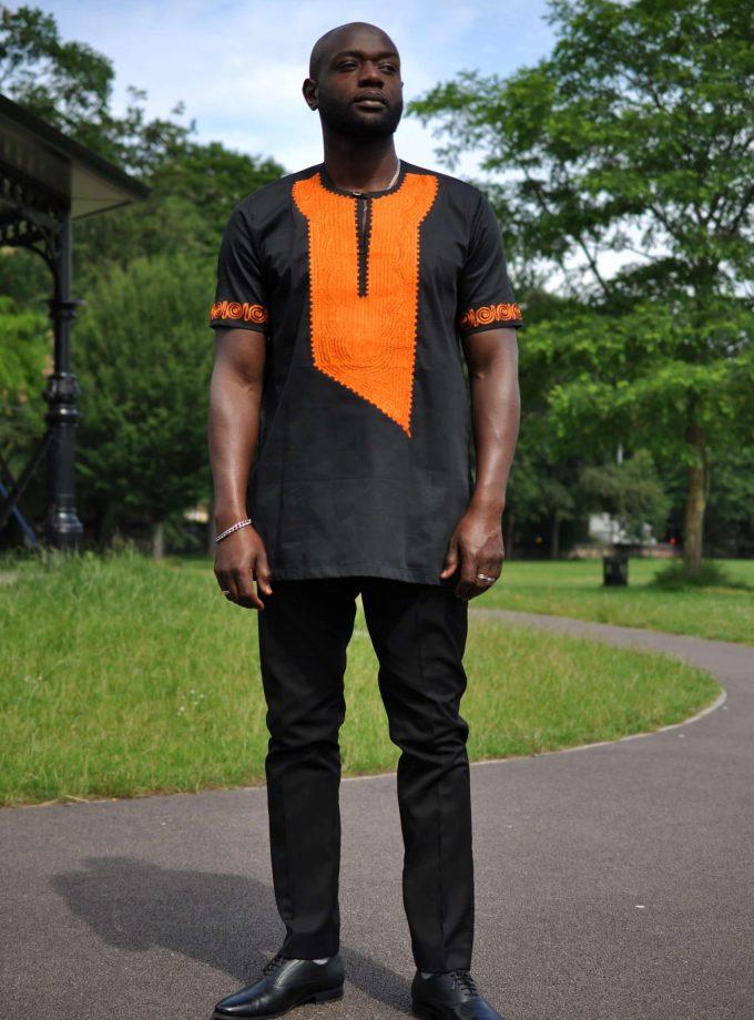 Akwesi Mens Embroidery Shirt