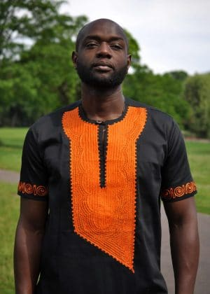 Akwesi Mens Embroidery Shirt close