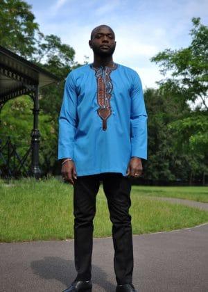 Abidemi Mens Embroidery Shirt far