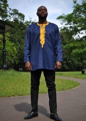 Akpofure Mens Embroidery Shirt far