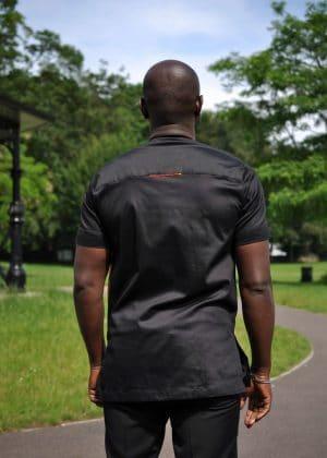 Ebrima African Men's Shirt back