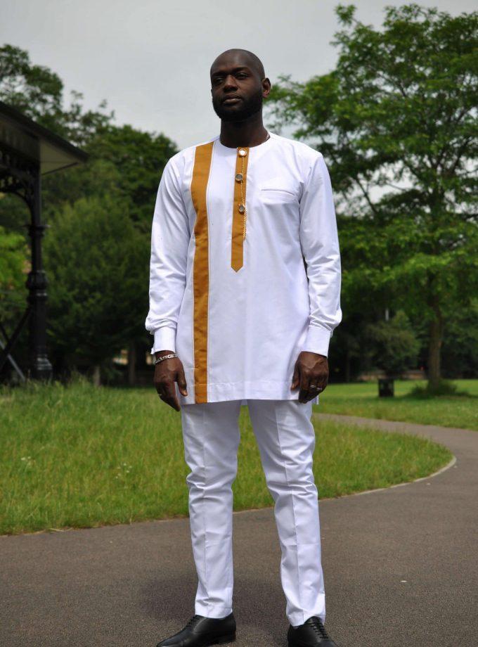 Hakim White African Men's Suit