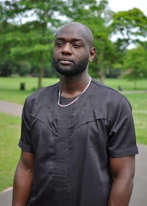 Ayo Black African Men's Shirt close